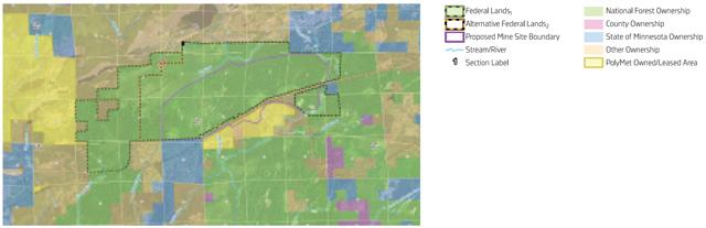 PolyMet land exchange map